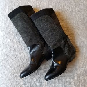 Vanessa Italian Made Leather Suede Boots Size 5.5